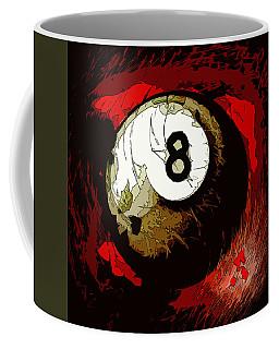 8 Ball Billiards Abstract Coffee Mug