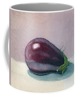 Coffee Mug featuring the painting A Is For Aubergine by Katherine Miller