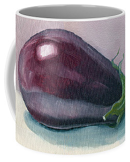 A Is For Aubergine Coffee Mug