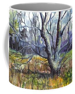 Coffee Mug featuring the painting A Tree For Thee by Carol Wisniewski