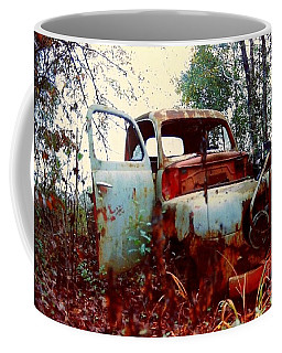 Coffee Mug featuring the photograph Abandoned  Journey  by Michael Hoard