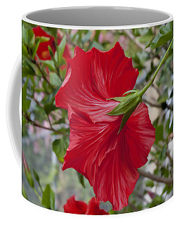 Abstract Hibiscus Coffee Mug