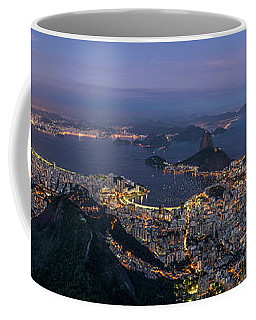 Aerial View Of City From Christ Coffee Mug
