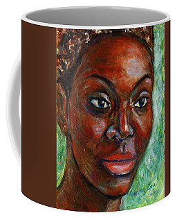 Coffee Mug featuring the painting African Woman by Xueling Zou