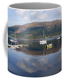 Coffee Mug featuring the photograph Along Loch Leven 3 by Wendy Wilton