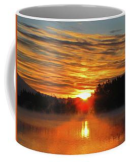 Coffee Mug featuring the photograph American Lake Sunrise by Tikvah's Hope