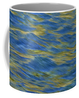 Coffee Mug featuring the photograph American River Abstract by Sherri Meyer
