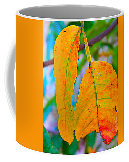 Coffee Mug featuring the photograph 2 Autumn Leaves by Nick Kirby
