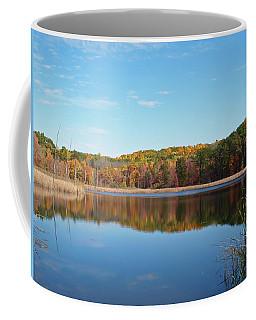 Autumn Pond Coffee Mug by Aimee L Maher Photography and Art Visit ALMGallerydotcom