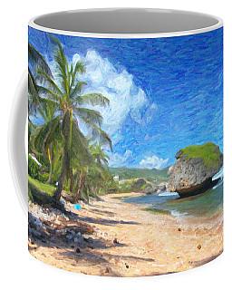 Bathsheba Beach In Barbados Coffee Mug