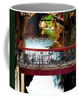 Bikes Over Waller Creek In Austin Coffee Mug