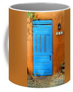Blue Door In Santa Fe Coffee Mug