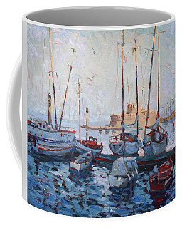 Boats In Rhodes Greece  Coffee Mug