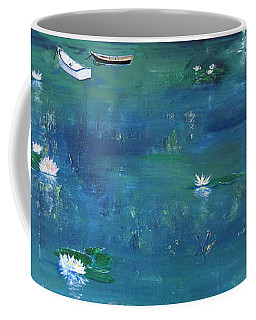 Coffee Mug featuring the photograph 2 Boats In The Lily Pond by Gary Smith