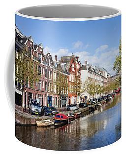 Boats On Amsterdam Canal Coffee Mug