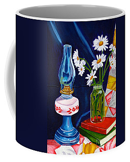 Coffee Mug featuring the painting 2 Books And A Lamp by Laura Forde