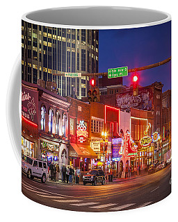 Coffee Mug featuring the photograph Broadway Street Nashville by Brian Jannsen