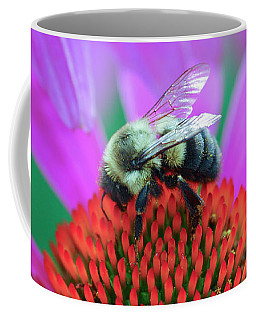 Bumblebee On Flower Coffee Mug