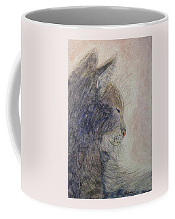Coffee Mug featuring the painting Cat Nap by Angela Davies