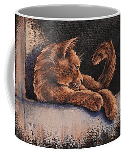 Coffee Mug featuring the painting Catching The Last Rays by Cynthia House
