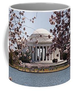Cherry Blossom Trees In The Tidal Basin Coffee Mug