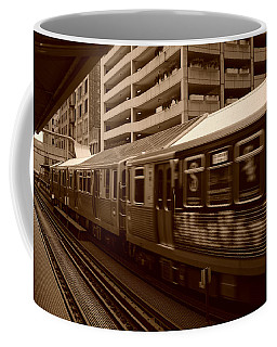 Coffee Mug featuring the photograph Chicago Cta by Miguel Winterpacht