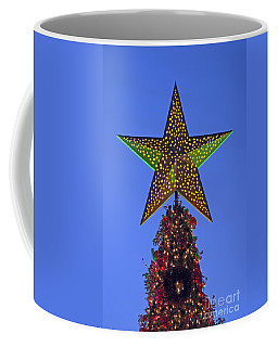Coffee Mug featuring the photograph Christmas Star During Dusk Time by George Atsametakis