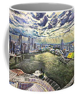 City Around The River Coffee Mug by Belinda Low