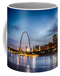 City Of St. Louis Skyline. Image Of St. Louis Downtown With Gate Coffee Mug
