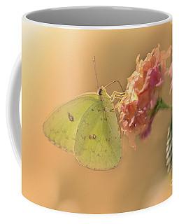 Clouded Sulphur Butterfly Coffee Mug by Betty LaRue