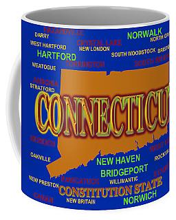 Connecticut State Pride Map Silhouette  Coffee Mug