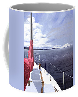 Coffee Mug featuring the painting Cruising North by Gary Giacomelli