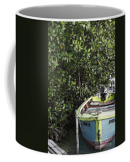 Coffee Mug featuring the photograph Docked By The Mangrove Trees by Lilliana Mendez