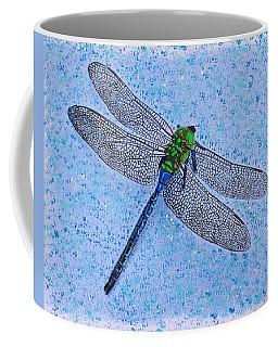 Coffee Mug featuring the painting Dragonfly by Deborah Boyd
