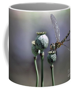 Coffee Mug featuring the photograph Dragonfly by Savannah Gibbs