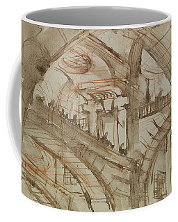 Drawing Of An Imaginary Prison Coffee Mug