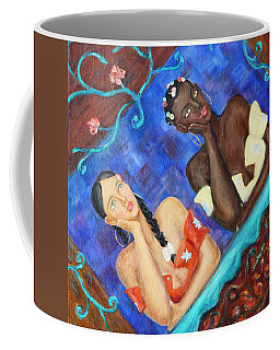 Coffee Mug featuring the painting Dreaming Girls by Xueling Zou