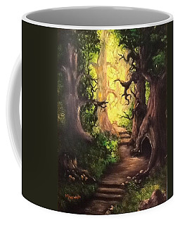 Coffee Mug featuring the painting Druid Forest by Megan Walsh