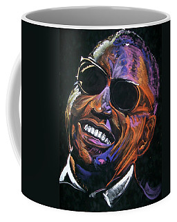 Coffee Mug featuring the mixed media electric Ray Charles by Peter Suhocke