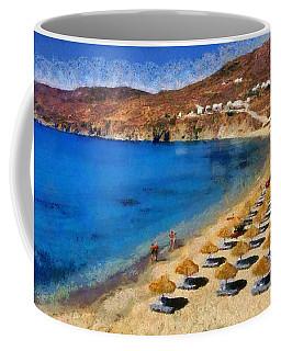 Elia Beach In Mykonos Island Coffee Mug