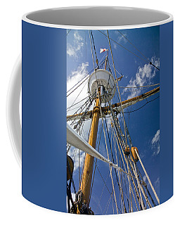 Coffee Mug featuring the photograph Elizabeth II Mast Rigging by Greg Reed