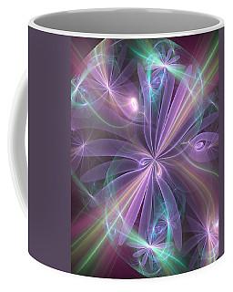 Coffee Mug featuring the digital art Ethereal Flower In Violet by Svetlana Nikolova
