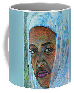 Coffee Mug featuring the painting Ethiopian Lady by Xueling Zou