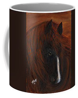 Coffee Mug featuring the painting Firestorm by Barbie Batson