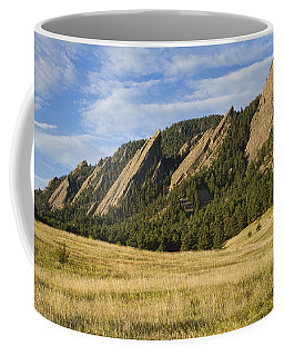 Flatirons With Golden Grass Boulder Colorado Coffee Mug