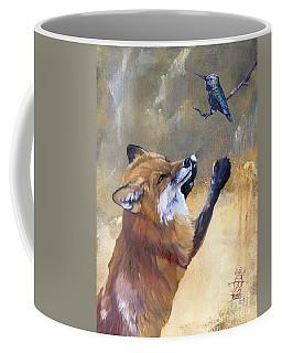 Fox Dances For Hummingbird Coffee Mug