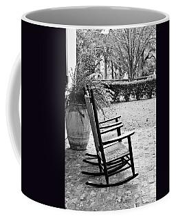 Front Porch Rockers - Bw Coffee Mug