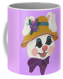 Coffee Mug featuring the painting Funny Bunny by Barbara McDevitt