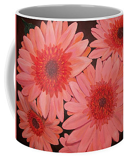Coffee Mug featuring the painting Gerber Daisies by Sharon Duguay