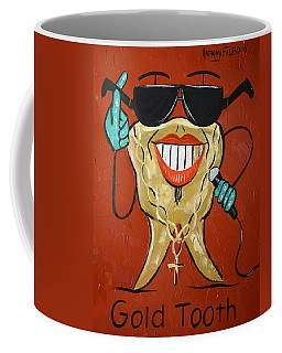 Coffee Mug featuring the painting Gold Tooth by Anthony Falbo